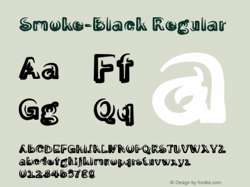 Smoke-Black Regular 1.0 Font Sample
