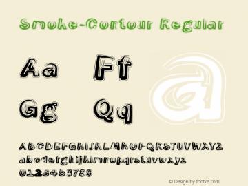 Smoke-Contour Regular 1.0 Font Sample