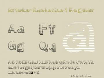 Smoke-Rasterized Regular 1.0 Font Sample