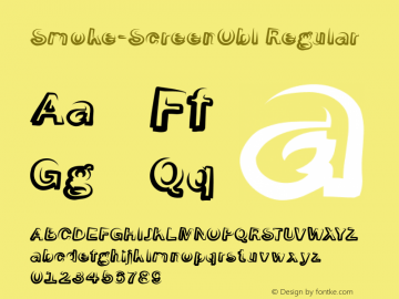 Smoke-ScreenObl Regular 1.0 Font Sample