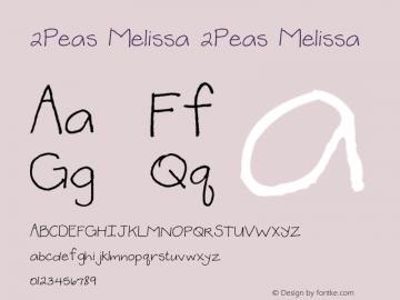 2Peas Melissa 2Peas Melissa Version 1.00; January 1, 2002 Font Sample
