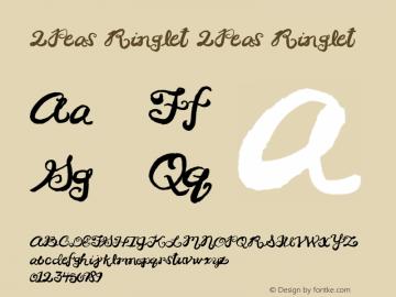 2Peas Ringlet 2Peas Ringlet Version 1.00; January 1, 2002 Font Sample