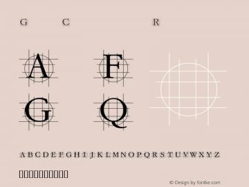 GrafCirculum Regular Macromedia Fontographer 4.1.3 07.01.2002 Font Sample