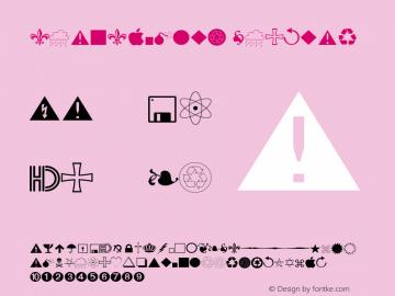 SeanSymbols Regular Altsys Fontographer 4.1 9/21/95 Font Sample