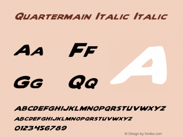 Quartermain Italic Italic 1 Font Sample