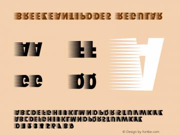 BreezeAntipodes Regular 1.0 Font Sample