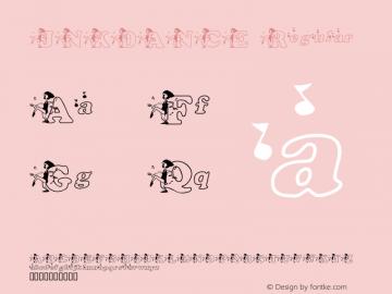 JNKDANCE Regular Macromedia Fontographer 4.1 1/10/2002 Font Sample