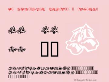 KR Beautiful Flowers 3 Regular Macromedia Fontographer 4.1 1/10/02 Font Sample