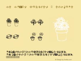 KR Kat's Flowers 3 Regular Macromedia Fontographer 4.1 1/10/02 Font Sample