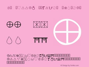 KR Wiccan Symbols Regular Macromedia Fontographer 4.1 1/10/02 Font Sample