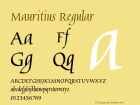 Mauritius Regular Version 1.05 Font Sample