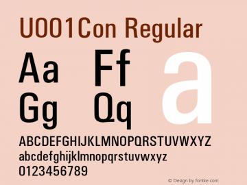 U001Con Regular Version 1.05 Font Sample