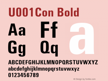 U001Con Bold Version 1.05 Font Sample