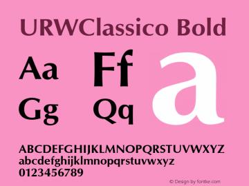 URWClassico Bold Version 1.05 Font Sample