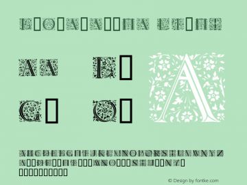 Floralalpha Light Macromedia Fontographer 4.1.3 11.01.2002 Font Sample