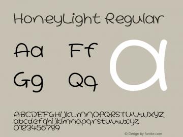 HoneyLight Regular Macromedia Fontographer 4.1J 02.1.11 Font Sample