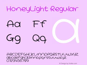 HoneyLight Regular Macromedia Fontographer 4.1J 08.7.3 Font Sample