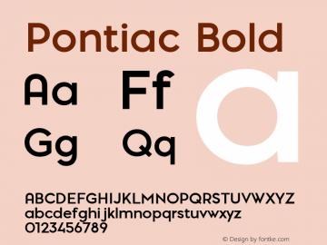 PontiacBold 1.000 | web-TT图片样张