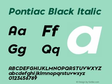 PontiacBlackItalic 1.000 | web-TT图片样张