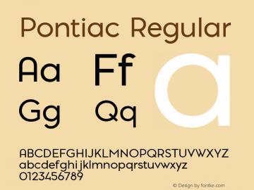 PontiacRegular 1.000 | web-TT图片样张