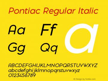 PontiacRegularItalic 1.000 | web-TT图片样张