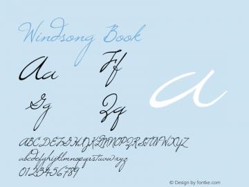 Windsong Macromedia Fontographer 4.1 8/5/98图片样张