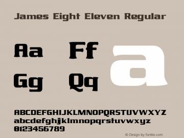 James Eight Eleven Regular 1.2图片样张
