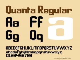 Quanta Regular Version 1.00 December 18, 2009, initial release图片样张