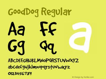 GoodDog Regular Version 1.000图片样张