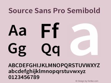 Source Sans Pro Semibold Version 1.050;PS 1.000;hotconv 1.0.70;makeotf.lib2.5.5900图片样张