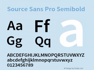 Source Sans Pro Semibold Regular Version 1.050;PS Version 1.000;hotconv 1.0.70;makeotf.lib2.5.5900图片样张