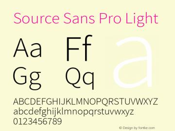 Source Sans Pro Light Regular Version 1.040;PS 1.000;hotconv 1.0.70;makeotf.lib2.5.5900图片样张