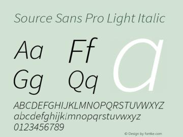 Source Sans Pro Light Italic Version 1.040;PS 1.000;hotconv 1.0.70;makeotf.lib2.5.5900图片样张
