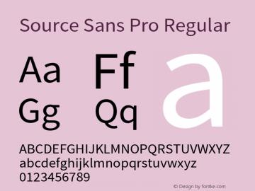 Source Sans Pro Regular Version 1.040;PS 1.000;hotconv 1.0.70;makeotf.lib2.5.5900图片样张