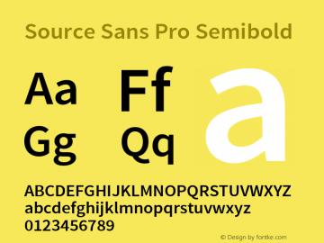 Source Sans Pro Semibold Regular Version 1.040;PS 1.000;hotconv 1.0.70;makeotf.lib2.5.5900图片样张