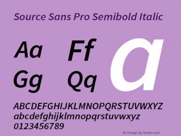 Source Sans Pro Semibold Italic Version 1.040;PS 1.000;hotconv 1.0.70;makeotf.lib2.5.5900图片样张