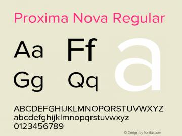 ProximaNova-Regular Version 2.003图片样张