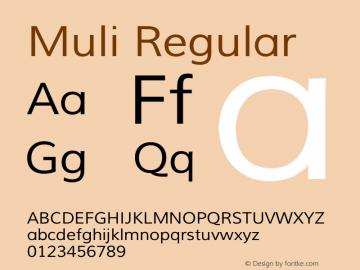 Muli Version 1.000 Font Sample