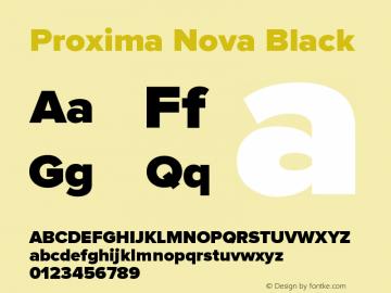 Proxima Nova Black Version 2.003图片样张
