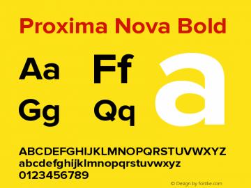 Proxima Nova Bold Version 2.003图片样张