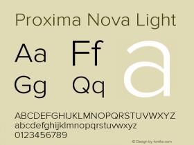 Proxima Nova Light Version 2.003图片样张