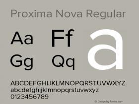 Proxima Nova Regular Version 2.003图片样张