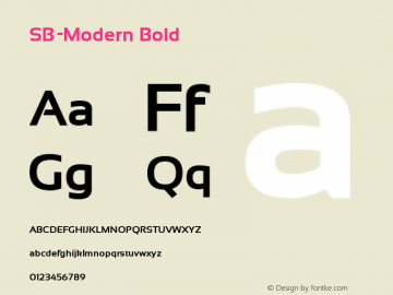 SB-Modern Bold Version 4.002 2018图片样张