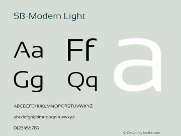 SB-Modern Light Version 4.002 2018图片样张