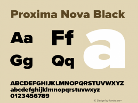 ProximaNova-Black Version 3.005;com.myfonts.easy.marksimonson.proxima-nova.black.wfkit2.version.4Eod图片样张