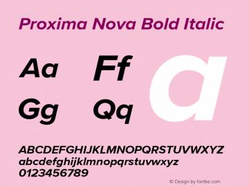 ProximaNova-BoldItalic Version 3.005;com.myfonts.easy.marksimonson.proxima-nova.bold-it.wfkit2.version.4Ep3图片样张
