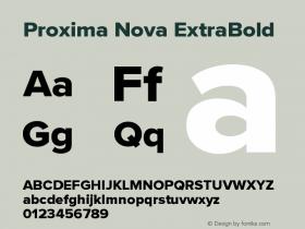 ProximaNova-ExtraBold Version 3.005;com.myfonts.easy.marksimonson.proxima-nova.extrabld.wfkit2.version.4Eno图片样张