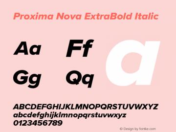 ProximaNova-ExtraBoldItalic Version 3.005;com.myfonts.easy.marksimonson.proxima-nova.extrabld-it.wfkit2.version.4Eq5图片样张