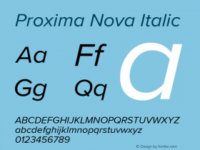 ProximaNova-Italic Version 3.005;com.myfonts.easy.marksimonson.proxima-nova.regular-it.wfkit2.version.4EnN图片样张