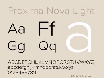 ProximaNova-Light Version 3.005;com.myfonts.easy.marksimonson.proxima-nova.light.wfkit2.version.4Eow图片样张